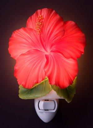 Red Hibiscus Nightlight - Ibis & Orchid Designs