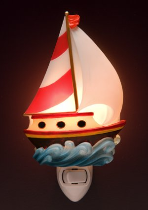 Toy Sailboat Nightlight - Ibis & Orchid Designs