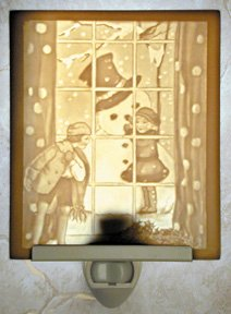 Snowman Flat Lithophane Nightlight