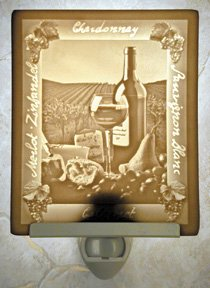 Wine & Cheese Flat Lithophane Nightlight