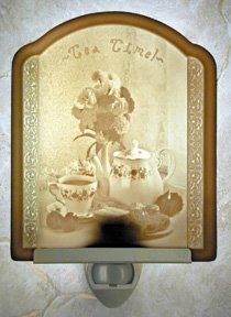 Tea Time Flat Lithophane Nightlight