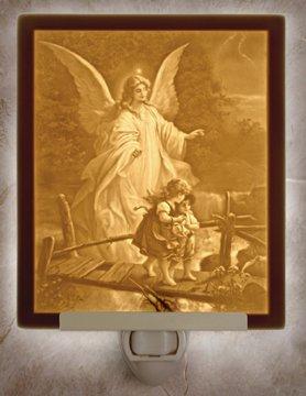 Angel at the Bridge Flat Lithophane Nightlight