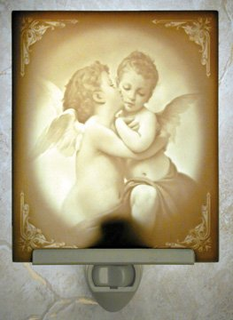 First Kiss Flat Lithophane Nightlight