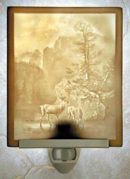 Serenity Flat Lithophane Nightlight