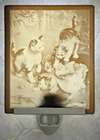 Mischief Makers Kittens Flat Lithophane Nightlight