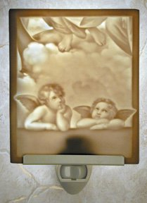 Raphael's Angels Flat Lithophane Nightlight