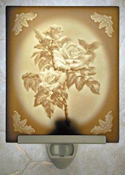 Roses Flat Lithophane Nightlight