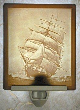 Full Sail Flat Lithophane Nightlight