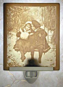 Winter Friends Flat Lithophane Nightlight