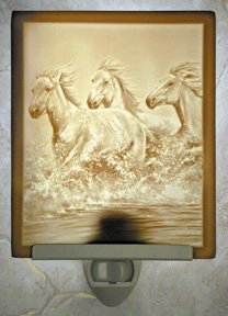 Wild Horses Flat Lithophane Nightlight