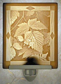 Leaves Flat Lithophane Nightlight