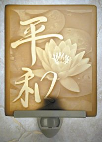 Peace Flat Lithophane Nightlight