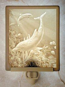 Dolphins Flat Lithophane Nightlight