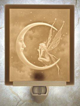 Fairy Moon Flat Lithophane Nightlight