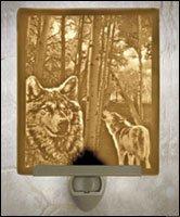 Wolves Flat Lithophane Nightlight
