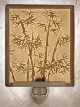 Bamboo Flat Lithophane Nightlight