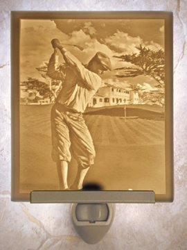 The Fairway Flat Lithophane Nightlight