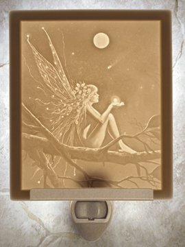 Catch A Falling Star Fairy Flat Lithophane Nightlight