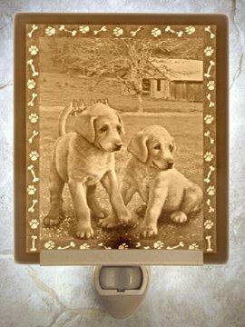 Puppies Flat Lithophane Nightlight