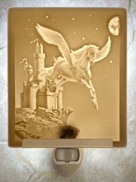 Enchanted Flight Flat Lithophane Nightlight
