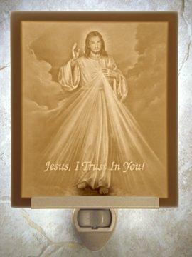 Divine Mercy Flat Lithophane Nightlight