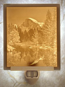 Half Dome Flat Lithophane Nightlight