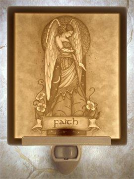 Faith Angel Flat Lithophane Nightlight