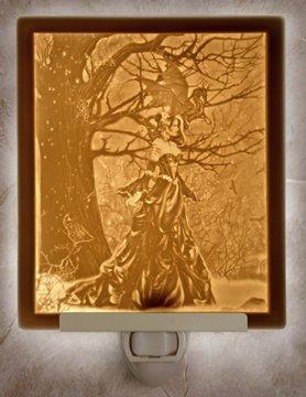 Queen of Shadows Flat Lithophane Nightlight