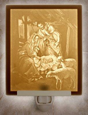 Nativity Flat Lithophane Nightlight