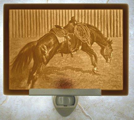 School Days Horse Flat Lithophane Nightlight