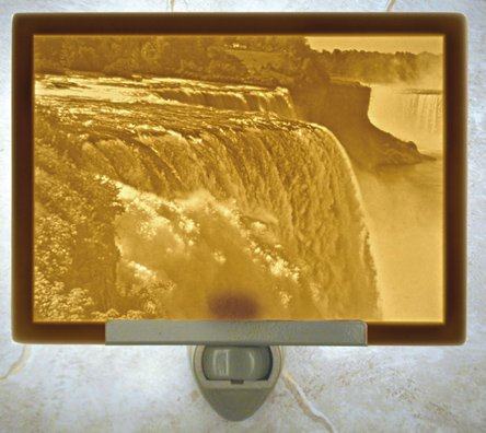 Niagara Falls Flat Lithophane Nightlight