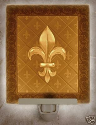 Fleur-De-Lis Flat Lithophane Nightlight