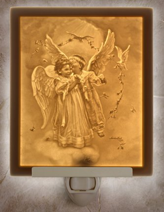 Angel Love Flat Lithophane Nightlight