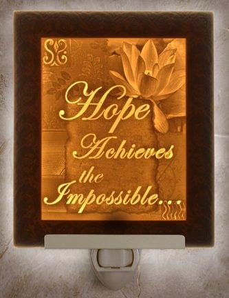 Hope Flat Lithophane Nightlight