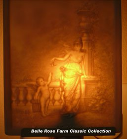 Cupids Gift Belle Rose Farm Classic Lithophane Collection