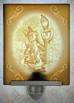 Peter Rabbit Belle Rose Farm Classic Lithophane Collection