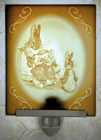 Rabbit Family Belle Rose Farm Classic Lithophane Collection