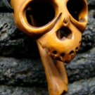 ALIEN SKULL & BONE CARVED KOA WOOD SKELETON MINIATURE  FREE GIFTS & USA SHIPPING