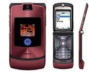 """Motorola V3I Razr """"Maroon'' Mobile Cellular Phone with i-Tunes (Unlocked)"""