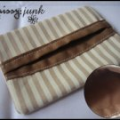 Brown Stripes Tissue Pochette (B)