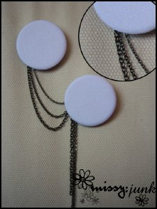 White Double Brooch