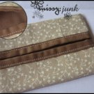 Brown Leaves Tissue Pochette