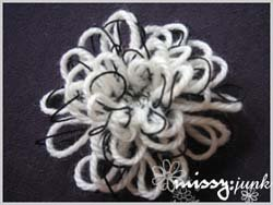 "Blackie ""B"" Loopy Flower Brooch"