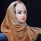 Brown hijab.