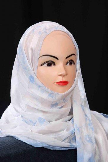 Hijab with strips.