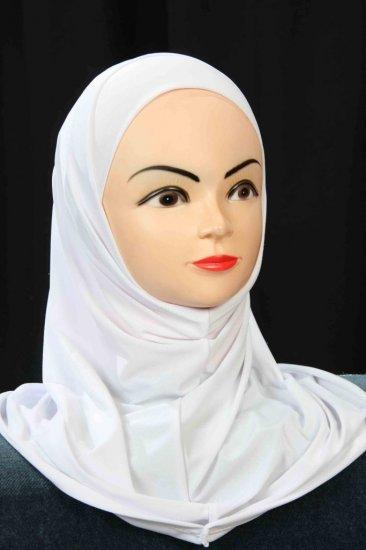 Amira white hijab.