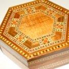 Wooden jewelry box.