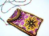 Small embroidered bag.