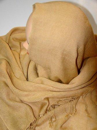 Brown cotton hijab