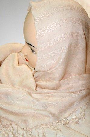 Biege cotton hijab